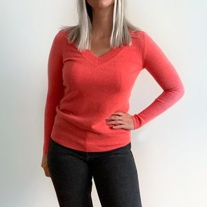 J. Crew Italian Cashmere V-Neck Fitted Sweater